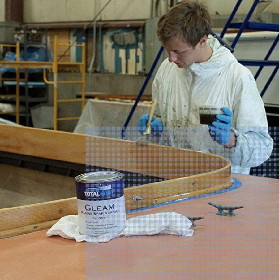 TotalBoat Gleam Marine Spar Varnish, Gloss And Satin Polyurethane Finish