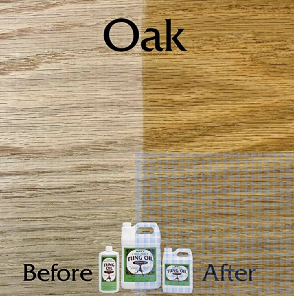 HOPE'S 100% Pure Tung Oil, Wood Finish For Furniture & Floors