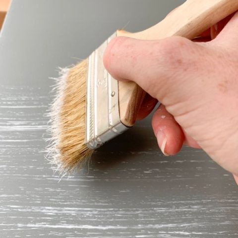 Dry Brush Technique for Distressing Wood