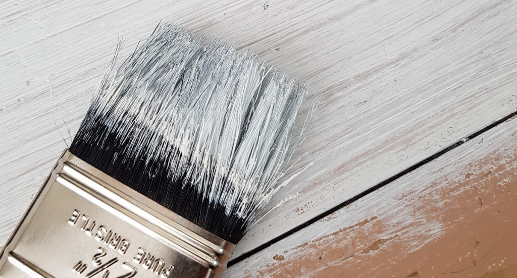 How To Paint The Wood With A Brush
