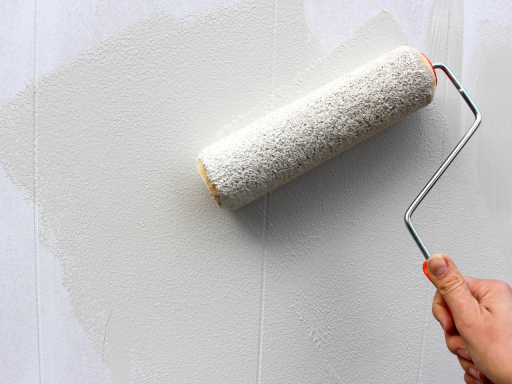 How To Paint The Wood With A Roller