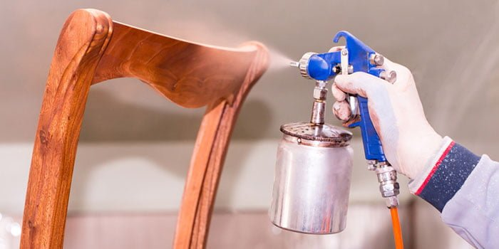 How To Paint The Wood With A Spray