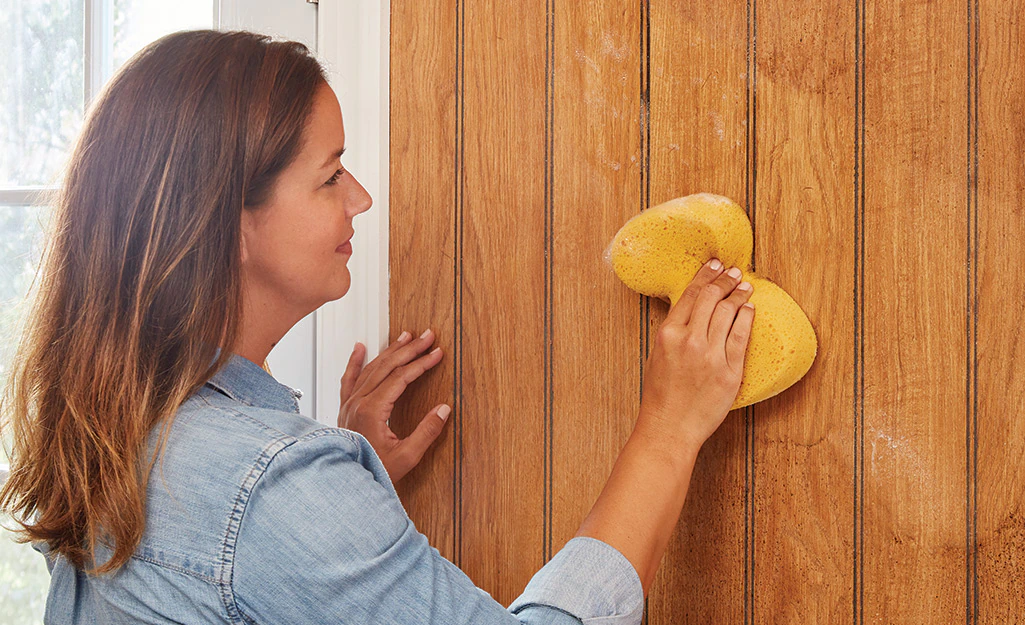 How To Paint Wood Paneling- Clean The Paneling
