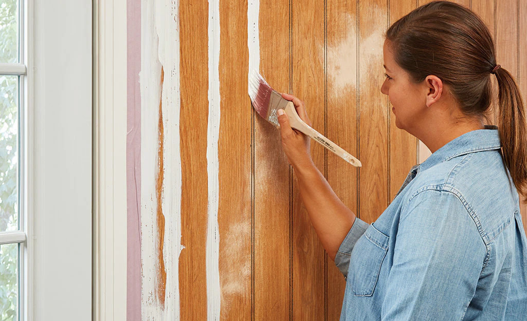How To Paint Wood Paneling  - Paint The Paneling