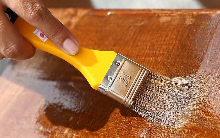 How To Stain Wood Furniture:  Apply Stain