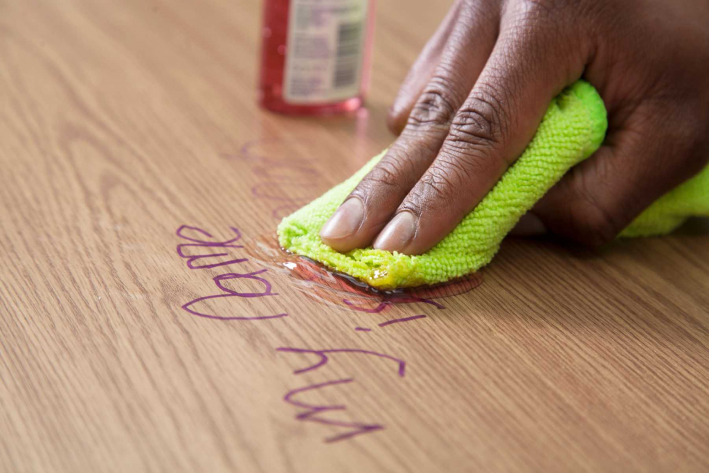 How To Remove Permanent Marker From Wood: Hand Sanitizer Gel